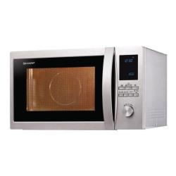 Micro ondes Sharp R-922STWE - Four micro-ondes combiné - grill - pose libre - 32 litres - 1000 Watt - inox