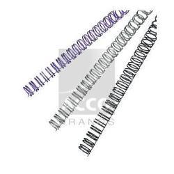 Fil de ligature GBC WireBind - 14 mm - 34 anneaux - A4 (210 x 297 mm) - 125 feuilles - blanc - 100 unités spirale de reliure (consommables de reliure) - pour Rexel WB606