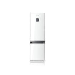 Réfrigérateur Samsung RL55VTEWG - Réfrigérateur/congélateur - pose libre - largeur : 60 cm - profondeur : 64.5 cm - hauteur : 200 cm - 348 litres - congélateur bas - classe A+ - Blanc verre