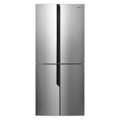 Réfrigérateur Hisense RQ562N4AC1 - Réfrigérateur/congélateur - pose libre - largeur : 79 cm - profondeur : 70 cm - hauteur : 181 cm - 432 litres - Américain - classe A+ - métal brillant