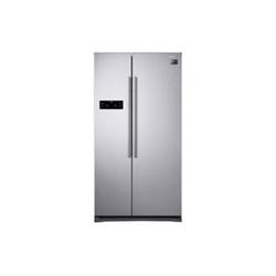 Réfrigérateur Samsung Serie 4000 RS57K4005SA - Réfrigérateur/congélateur - pose libre - largeur : 91.2 cm - profondeur : 74.7 cm - hauteur : 178.9 cm - 569 litres - Américain - Classe A++ - argent