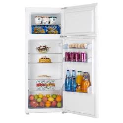Réfrigérateur Hisense RT280D4AW1 - Réfrigérateur/congélateur - pose libre - largeur : 55.4 cm - profondeur : 55.1 cm - hauteur : 144 cm - 215 litres - congélateur haut - classe A+ - blanc