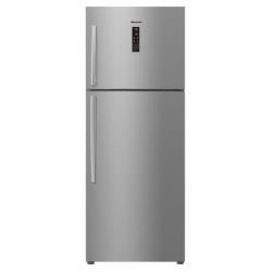 Réfrigérateur Hisense RT533N4DC12 - Réfrigérateur/congélateur - pose libre - largeur : 68 cm - profondeur : 68.3 cm - hauteur : 175.6 cm - 400 litres - congélateur haut - classe A+ - inoxLook