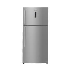 Réfrigérateur Hisense RT650N4DC12 - Réfrigérateur/congélateur - pose libre - 490 litres - congélateur haut - classe A+ - inox