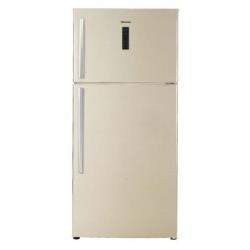 Réfrigérateur Hisense RT650N4DY12 - Réfrigérateur/congélateur - pose libre - 490 litres - congélateur haut - classe A+ - sable
