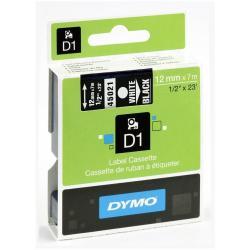 Nastro Dymo - D1 12mmx7m Bianco su Nero