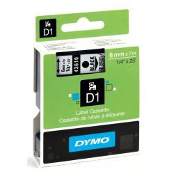 Nastro Dymo - Letratag 6mmx7m Nero su Trasparente