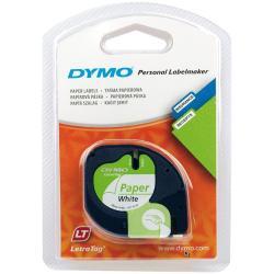 Nastro Dymo - Letratag 12mmx4m Bianco