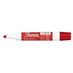 Marqueur Sharpie - Marqueur - non permanent - pour verre, tableau blanc - rouge - encre pigmentée - 2 mm - pack de 12