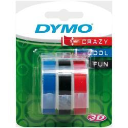 Nastro Dymo - 3D 9mmx3m Colori Assortiti conf.3pz