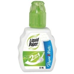 Paper Mate Liquid Paper 2 IN 1 - Liquide correcteur - 22 ml (pack de 12)