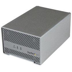 """Boîtier pour disque dur externe StarTech.com Boîtier Thunderbolt externe pour 2 disques durs SATA de 2,5"""" avec câble Thunderbolt et ventilateur - Boitier externe - 2.5"""" - SATA 6Gb/s - 10 Go/s - Thunderbolt - argenté(e)"""