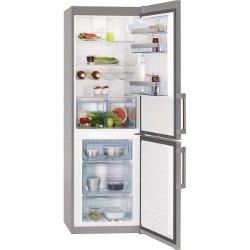 Réfrigérateur AEG S53420CTX2 - Réfrigérateur/congélateur - pose libre - largeur : 59.5 cm - profondeur : 64.7 cm - hauteur : 184 cm - 318 litres - congélateur bas - Classe A++ - inox