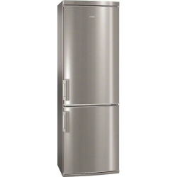 Réfrigérateur AEG S73400CTS1 - Réfrigérateur/congélateur - pose libre - largeur : 59.5 cm - profondeur : 65.8 cm - hauteur : 185 cm - 323 litres - congélateur bas - classe A+ - inox