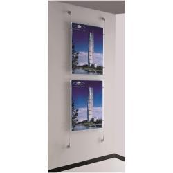 TECNOSTYL - Système d'affichage des câbles - montable au mur - 2 pochettes - pour 500 x 700 mm - transparent