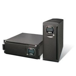 """UPS onduleur Riello UPS Sentinel Dual SDL 5000 - Onduleur - CA 220/230/240 V - 3.5 kW - 5000 VA - RS-232, USB - connecteurs de sortie : 3 - 4U - 19"""" - gris foncé, RAL 7016"""