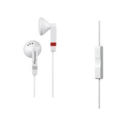 Oreillettes Pioneer SE-CE511I-W - Casque - embout auriculaire - 3.5 mm plug - blanc - pour Apple iPad 1; 2; iPhone 3G, 3GS, 4, 4S; iPod classic; iPod nano; iPod shuffle; iPod touch