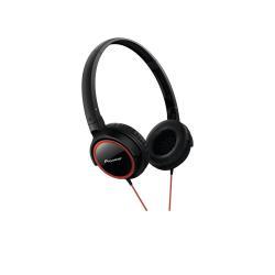 Casque Pioneer SE-MJ512 - Casque - pleine taille - 3.5 mm plug - noir, rouge