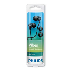 Philips MyJam Vibes SHE3700BK - Écouteurs - intra-auriculaire - jack 3,5mm - isolation acoustique