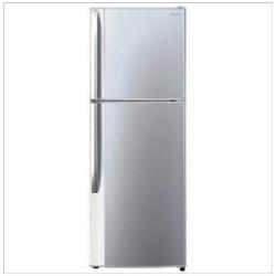 Réfrigérateur Sharp Doppia Porta Junior SJ-420VSL - Réfrigérateur/congélateur - pose libre - largeur : 60 cm - profondeur : 64.95 cm - hauteur : 170 cm - 312 litres - congélateur haut - classe A+ - argent champagne