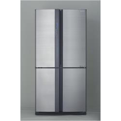 Réfrigérateur Sharp SJ-EX820FSL - Réfrigérateur/congélateur - pose libre - largeur : 89.2 cm - profondeur : 77.1 cm - hauteur : 183 cm - 605 litres - côte-à-côte - Classe A++ - argenté(e)