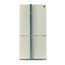 Réfrigérateur Sharp SJ-FP810VBE - Réfrigérateur/congélateur - pose libre - largeur : 89.2 cm - profondeur : 77.1 cm - hauteur : 183 cm - 605 litres - Américain - classe A+ - beige