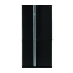 Réfrigérateur Sharp SJ-FP810VBK - Réfrigérateur/congélateur - pose libre - largeur : 89.2 cm - profondeur : 77.1 cm - hauteur : 183 cm - 605 litres - Américain - classe A+ - noir/inox