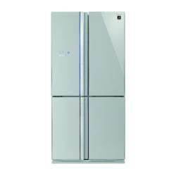 Réfrigérateur Sharp SJ-FS810V-SL - Réfrigérateur/congélateur - pose libre - largeur : 89 cm - profondeur : 76.6 cm - hauteur : 183 cm - 600 litres - Américain - classe A+ - verre argenté