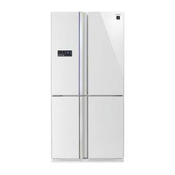 Réfrigérateur Sharp SJ-FS810VWH - Réfrigérateur/congélateur - pose libre - largeur : 89.2 cm - profondeur : 76.6 cm - hauteur : 183 cm - 605 litres - côte-à-côte - classe A+ - blanc brillant