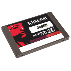 "SSD Kingston SSDNow KC300 - Disque SSD - chiffré - 240 Go - interne - 2.5"" - SATA 6Gb/s - AES 256 bits - Self-Encrypting Drive (SED), TCG Opal Encryption 2.0"
