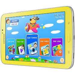 "Tablette tactile Samsung Galaxy Tab 3 Kids - Tablette - Android 4.1 (Jelly Bean) - 8 Go - 7"" TFT ( 1024 x 600 ) - Logement microSD - jaune"