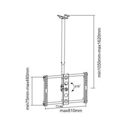 """Support pour LCD SOPAR Pallas XL - Kit de montage (support rotatif plafond) pour écran plasma / LCD - noir - Taille d'écran : 32""""-63"""""""