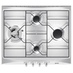 Plan de cuisson Smeg Selection SR264X - Table de cuisson au gaz - 4 plaques de cuisson - Niche - largeur : 55.5 cm - profondeur : 47.8 cm - inox