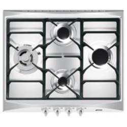 Plan de cuisson Smeg Selection SR264XGH - Table de cuisson au gaz - 4 plaques de cuisson - Niche - largeur : 55.5 cm - profondeur : 47.8 cm - inox
