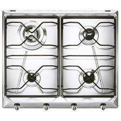 Plan de cuisson Smeg SRV564-3 - Table de cuisson au gaz - 4 plaques de cuisson - Niche - largeur : 55.5 cm - profondeur : 47.8 cm - inox