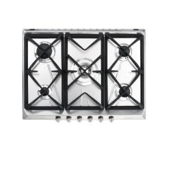 Plan de cuisson Smeg SRV576GH5 - Table de cuisson au gaz - 5 plaques de cuisson - Niche - largeur : 55.5 cm - profondeur : 47.8 cm - inox