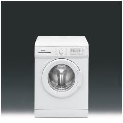 Lave-linge Smeg SW106-1 - Machine à laver - pose libre - largeur : 60 cm - profondeur : 48 cm - hauteur : 84 cm - chargement frontal - 6 kg - 1000 tours/min