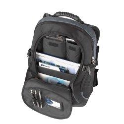 """Sacoche Targus XL 17 - 18 inch / 43.1cm - 45.7cm Laptop Backpack - Sac à dos pour ordinateur portable - 18"""" - noir, bleu"""
