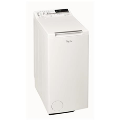 Lave-linge Whirlpool TDLR 70220 - Machine à laver - pose libre - largeur : 40 cm - profondeur : 60 cm - hauteur : 90 cm - chargement par le dessus - 42 litres - 6 kg - 1200 tours/min - blanc