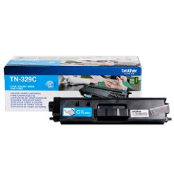 Brother TN329C - Cyan - originale - cartouche de toner - pour Brother DCP-L8450CDW, MFC-L8850CDW; HL-L8350CDW, L8350CDWT, L8850CDW