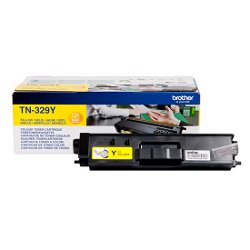 Brother TN329Y - Jaune - originale - cartouche de toner - pour Brother DCP-L8450CDW, MFC-L8850CDW; HL-L8350CDW, L8350CDWT, L8850CDW