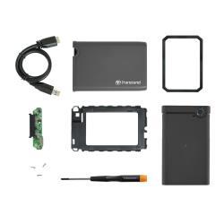 "Transcend StoreJet 2.5"" - Boitier externe - 2.5"" - SATA 6Gb/s - 600 Mo/s - USB 3.0"