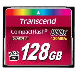 Carte mémoire Transcend - Carte mémoire flash - 128 Go - 800x - CompactFlash