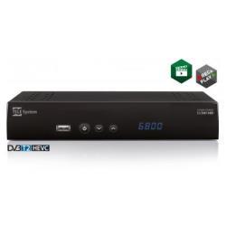 Décodeur TELE System TS6800T2 HEVC - Tuner TV numérique DVB - noir