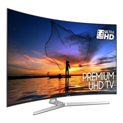 "TV LED Samsung UE55MU9000T - Classe 55"" - 9 Series incurvé TV LED - Smart TV - 4K UHD (2160p) - HDR - Precision Black Local Dimming, Supreme UHD dimming - argenté(e)"