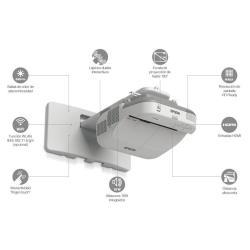 Vidéoprojecteur Epson EB-580 - Projecteur LCD - 3200 lumens - XGA (1024 x 768) - 4:3 - LAN