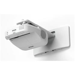 Vidéoprojecteur Epson EB-1420WI - Projecteur LCD - 3300 lumens - WXGA (1280 x 800) - 16:10 - HD - Objectif fixe de portée ultra courte - LAN