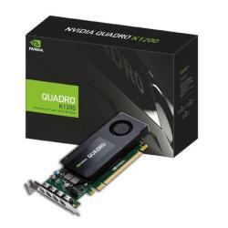 Carte vidéo NVIDIA Quadro K1200 for DisplayPort - Carte graphique - Quadro K1200 - 4 Go GDDR5 - PCIe 2.0 x16 faible encombrement - 4 x Mini DisplayPort