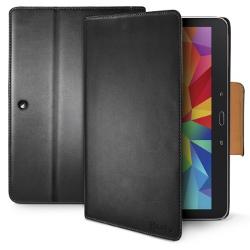 Coque CELLY WALLYT33 - Protection à rabat pour tablette - synthétique - noir - pour Samsung Galaxy Tab 4 (10.1 po)