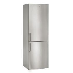 Réfrigérateur Whirlpool WBE33252 NF TS - Réfrigérateur/congélateur - pose libre - largeur : 59.5 cm - profondeur : 64 cm - hauteur : 189.5 cm - 320 litres - congélateur bas - Classe A++ - inox mat